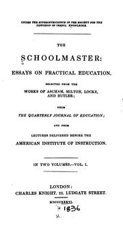 Cover of: The schoolmaster |