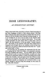 Cover of: Irish lexicography | R. Atkinson