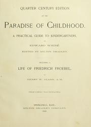 Cover of: Quarter century edition of The paradise of childhood |