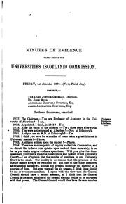 Cover of: Report of the royal commissioners appointed to inquire into the universities of Scotland, with evidence and appendix ... | Scotland. Universities commission.