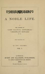 Cover of: A noble life