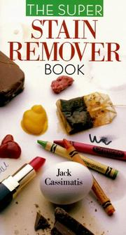 Cover of: The super stain remover book