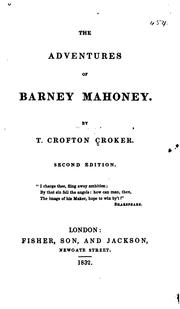 Cover of: The adventures of Barney Mahoney