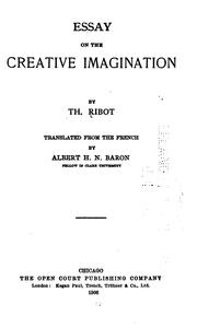 Cover of: Essay on the creative imagination