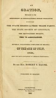 Cover of: An oration, delivered in the Independent or Congregational church, Charleston