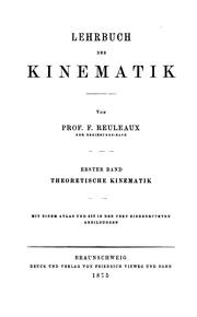 Cover of: Theoretische kinematik