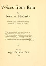 Cover of: Voices from Erin | Denis Aloysius McCarthy