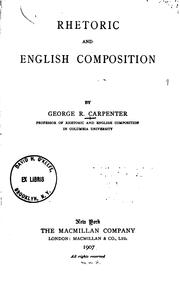 Cover of: Rhetoric and English composition