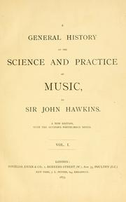 Cover of: A general history of the science and practice of music