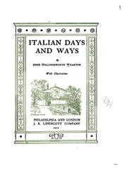 Cover of: Italian days and ways | Anne Hollingsworth Wharton