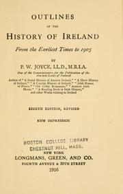 Cover of: Outlines of the history of Ireland from the earliest times to 1905