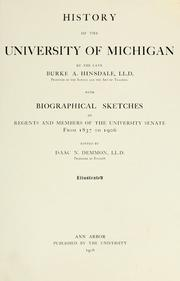 Cover of: History of the University of Michigan | Hinsdale, B. A.