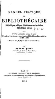 Cover of: Manuel pratique du bibliothécaire