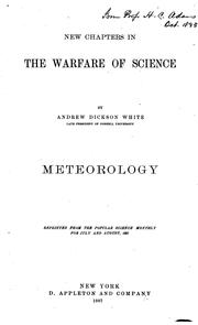 Cover of: New chapters in the warfare of science