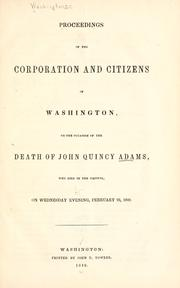 Cover of: Proceedings of the corporation and citizens of Washington | Washington (D.C.)