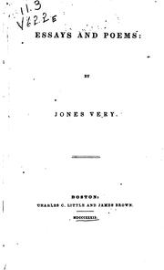 Essays and poems by Jones Very