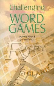 Cover of: Challenging word games