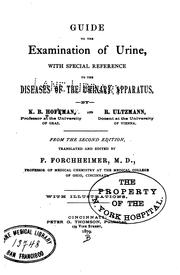 Cover of: Guide to the examination of urine | Karl Berthold Hofmann
