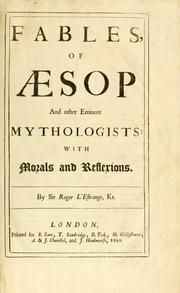 Cover of: Fables of Æsop, and other eminent mythologists