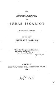Cover of: autobiography of Judas Iscariot | James William Tasker Hart