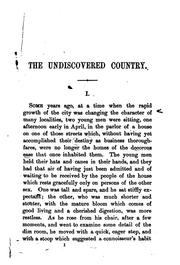 The undiscovered country by William Dean Howells