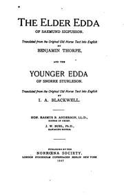 Cover of: The Elder Eddas [!] of Saemund Sigfusson