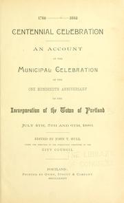 Cover of: Centennial celebration by Portland (Me.)