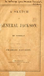 Cover of: A sketch of General Jackson