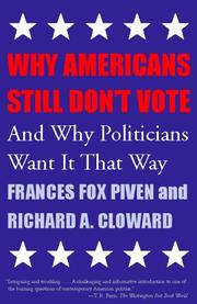 Cover of: Why Americans Still Don't Vote