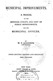 Cover of: Municipal improvements. | W. F. Goodhue