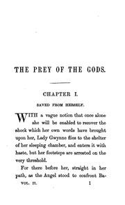 Cover of: The prey of the gods: a novel