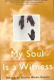 Cover of: MY SOUL IS A WITNESS P