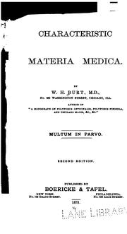 Characteristic Materia Medica by William H. Burt