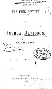 Cover of: The true history of Joshua Davidson, communist. | Elizabeth Lynn Linton