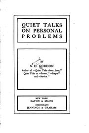 Cover of: Quiet talks on personal problems | Samuel Dickey Gordon