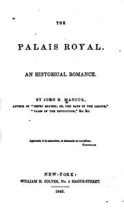 Cover of: Palais Royal. | John H. Mancur