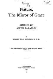 Cover of: Nature, the mirror of grace