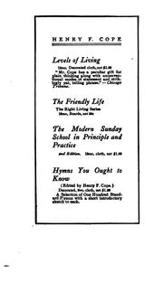 Cover of: modern Sunday school in principle and practice | Cope, Henry Frederick
