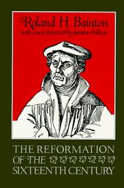 Cover of: The Reformation of the sixteenth century by Roland Herbert Bainton