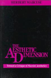 Cover of: The aesthetic dimension