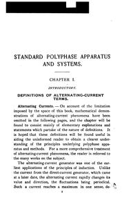 Cover of: Standard polyphase apparatus and systems | Maurice Agnus Oudin