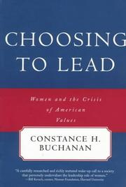 Cover of: Choosing to Lead