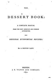 Cover of: The dessert book |