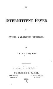Cover of: On intermittent fever and other malarious diseases