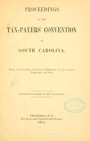 Cover of: Proceedings of the Tax-payers