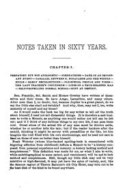 Cover of: Notes taken in sixty years. | Richard Smith Elliott