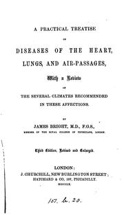 Cover of: practical synopsis of diseases of the chest and air-passages | James Bright