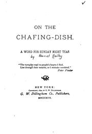 Cover of: On the chafing-dish. | Harriet P. Bailey