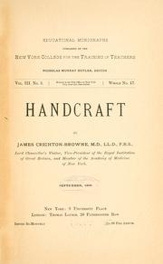 Cover of: Handcraft