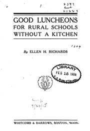 Cover of: Good luncheons for rural schools without a kitchen